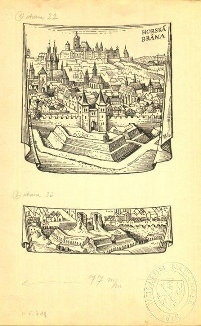 Ilustrace - Bouře nad Prahou