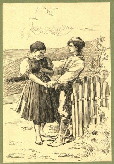Ilustrace - Libuše: Kalendář českých žen a dívek na obyčejný rok 1901