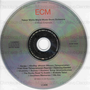 Image from object titled A wider embrace / Trevor Watts Moire' Music Drum Orchestra