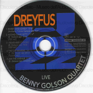Image from object titled Live / Benny Golson Quartet