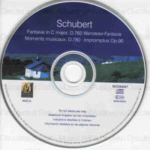Image from object titled Fantasie in C Major, D. 760 Wanderer-Fantasie ; Moments musicaux, D. 780 ; Impromptus Op. 90 / Franz Shubert ; Paul Badura-Skoda, piano