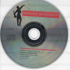 Image from object titled I maestri immortali della musica. Capriccio spagnolo op. 34 / Rimskij-Korsakov ; Orchestra Filarmonica Ceca ; Direttore Oscar Danon
