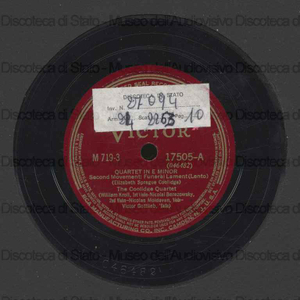 Image from object titled Quartetto in E minor / E. S. Coolidge ; The Coolidge Quartet