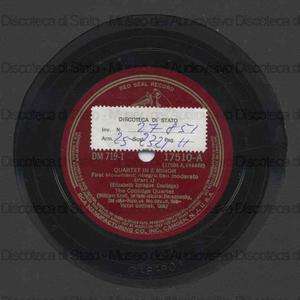 Image from object titled Quartet in E Minor / E. S. Coolidge ; The Coolidge Quartet