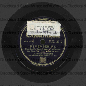 Image from object titled Remember me ; A foggy day / C. Gibbons ; Savoy Hotel Orpheans con Coro