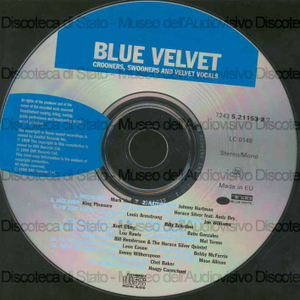 Image from object titled Blue Velvet : Crooners, Swooners and Velvet vocals / M. Murphy ; J. Hartman ; King Pleasure ... [et al.]