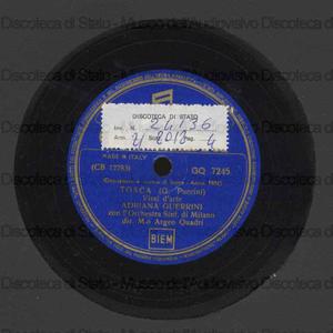 Image from object titled Tosca : Vissi d'arte ; Manon Lescaut : In quelle trine morbide / G. Puccini ; A. Guerrieri, soprano ; Orchestra Sinfonica di Milano ; A. Quadri, direttore