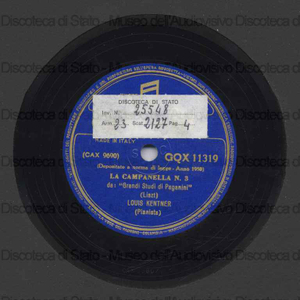 Image from object titled La campanella n. 3 ; La caccia n. 5 : Grandi studi di Paganini / F. Liszt ; L. Kentner, pianoforte