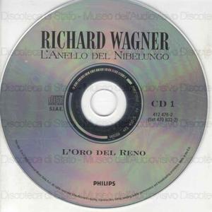"""Image from object titled L''oro del Reno : Prologo del ciclol """"L'Anello del Nibelungo"""" / Richard Wagner ; Orchestra del Festival di Bayreut ; Karl Bohm ; [cast]: T. Adam, G. Nienstedt, H. Esser ... [et al.]"""