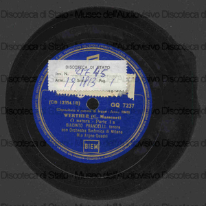 Image from object titled Werther : O natura / G. Massenet ; Giacinto Prandelli, tenore ; Orch. Sinf. di Milano ; A. Quadri, direttore
