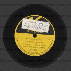 Image from object titled La danse de Puck ; La serenade interrompue / C. Debussy ; U. Schnabel, pianoforte