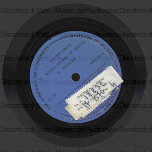 Image from object titled Archive of american folk song / recorded by Alan Lomax and M.E. Barnicle