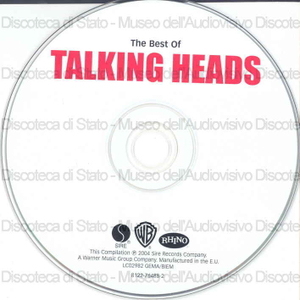 Image from object titled Tallking Heads : The best of