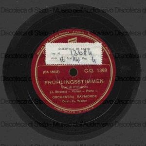 Image from object titled Fruhlingsstimmen = Voci di primavera : valzer / J. Strauss ; Orchestra Raymonde ; diret.: G. Walter