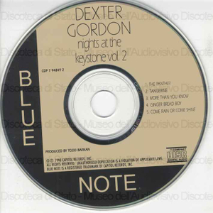 Image from object titled Nights at the Keystone : volume 2 / Dexter Gordon