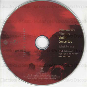 Image from object titled Violin Concertos / Piotr Il'yich Tchaikovsky ; Jean Sibelius ; Itzhak Perlman, violin ; Boston Symphony Orchestra; [direttore d'orchestra ] Erich Leinsdorf
