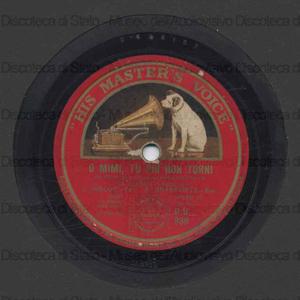 Image from object titled O Mimi, Tu piu'' non torni : La Boheme / Puccini. Solenne in quest'ora : La forza del Destino / Verdi ; [entrambi eseguiti da] J.Hislop [ten.] ; A.Granforte [bar.]