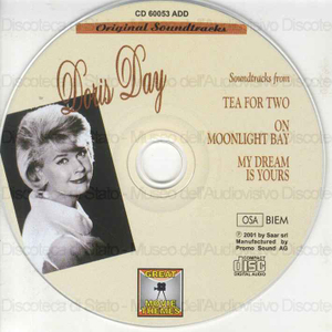Image from object titled Doris Day : soundtracks from Tea for two, On moonlight bay, My dream is yours