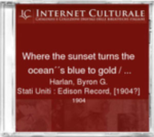Image from object titled Where the sunset turns the ocean''s blue to gold / Harlan