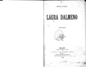 Image from object titled Laura Dalmeno : Romanzo