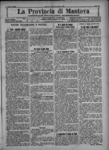 Image from object titled La Provincia di Mantova : giornale della democrazia (1909:A. 23, set., 10, fasc. 242)