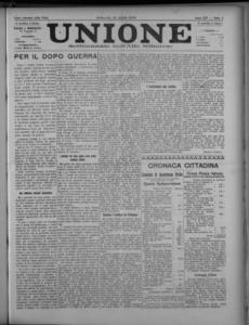 Image from object titled Unione : giornale della democrazia gallaratese (1918:A. 14, apr., 13, fasc. 5)