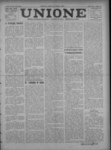 Image from object titled Unione : giornale della democrazia gallaratese (1924:A. 20, mag., 17, fasc. 43)