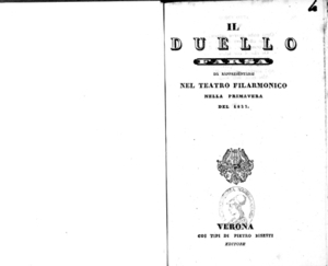 Image from object titled Il duello : farsa