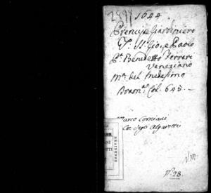 Image from object titled Il prencipe giardiniero, del Ferrari