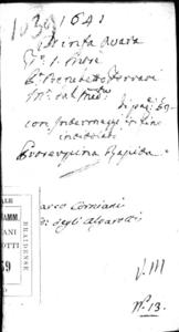 Image from object titled La ninfa auara fauola boschereccia, del signor Benedetto Ferrari da la Tiorba. Rappresentata in musica in Venetia nell'anno 1641. Posta in musica dall'istesso autore; con l'aggiunta di Proserpina rapita, intermedio per musica