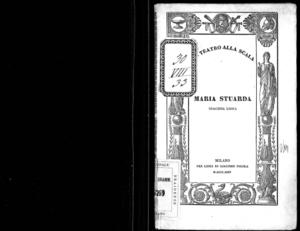 Image from object titled Maria Stuarda : tragedia lirica in quattro parti