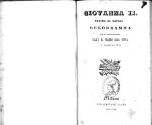 Image from object titled Giovanna 2. regina di Napoli : melodramma
