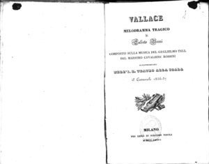 Image from object titled Vallace : melodramma tragico