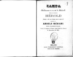 Image from object titled Zampa : melodramma in tre atti