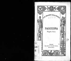 Image from object titled Parisina : tragedia lirica