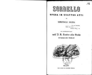 Image from object titled Sordello : opera in quattro atti