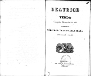 Beatrice di Tenda : tragedia lirica in due atti | Винченцо Белини