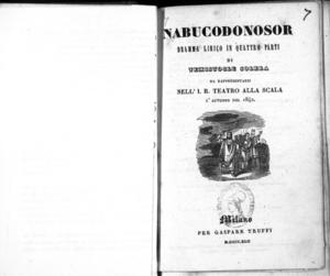 Image from object titled Nabucodonosor : dramma lirico in quattro parti