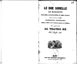 Image from object titled Le due sorelle di Corinto : dramma fantastico in tre parti