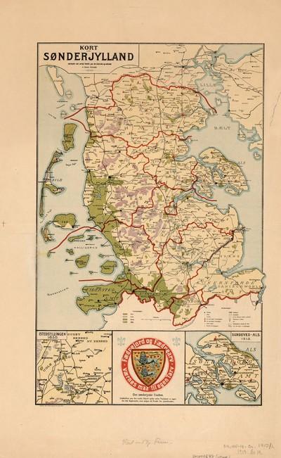 Kort Over Sonderjylland Udarbejdet Med Saerligt Henblik Paa Det