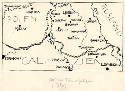 Kort Over Polen Og Galizien