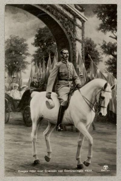 Kongen rider over Grænsen ved Genforeningen 1920
