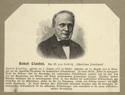 Image from object titled 'Rudolf Clausius'