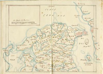 60 tegnede Karter over danske Provindser, paa meget faae nær alle af Joh. Meyer, copierede af Jac. Langebek.; Amt Cronenburg
