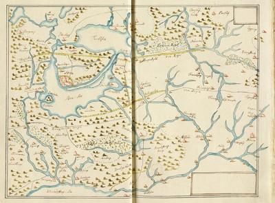 60 tegnede Karter over danske Provindser, paa meget faae nær alle af Joh. Meyer, copierede af Jac. Langebek.; Landet omkring Tuel og Sorø søer