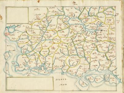 60 tegnede Karter over danske Provindser, paa meget faae nær alle af Joh. Meyer, copierede af Jac. Langebek.; Sydvestsjælland