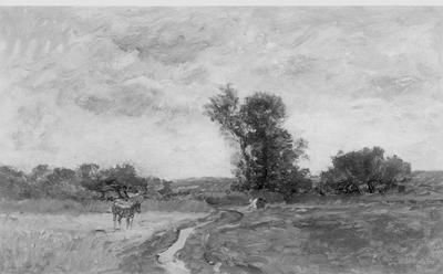 Un chemin, vue prise dans les environs d'Auvers (Oise)
