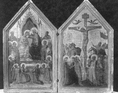 Couronnement de la Vierge / Crucifixion