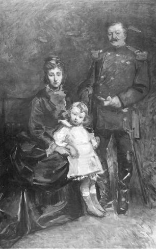 Portret van generaal Nypels met zijn gezin