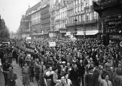 Image from object titled Manifestation : manifestation ouvrière du 1er Mai à Bruxelles